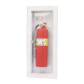 27 x 9.5 Inch Fire Rated Vista Series Cabinet for up to 10 Lbs ABC Fire Extinguisher - Stainless Steel Door and Frame, Recessed