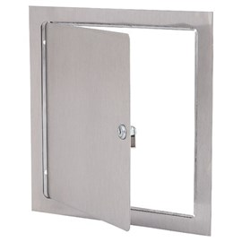 8 x 12 Inch Non-Fire-Rated Flush Access Panel for All Surfaces - Stainless Steel