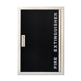 27 x 20 Inch Gemini Series Cabinet for up to Two 20 Lbs ABC Fire Extinguisher -  Recessed, 0.3125 Inch Stainless Steel Trim