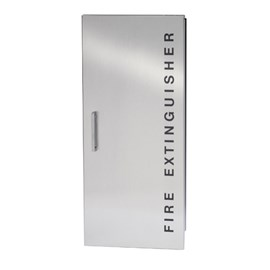Concealed Hinge Door Cabinets for up to 20 Lbs ABC Fire Extinguisher