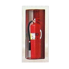 30 x 12 Inch Fire Rated Rota Series Cabinet for up to 20 Lbs ABC Fire Extinguisher - Stainless Steel Door and Frame, Semi-Recessed, 2.5 Inch Trim