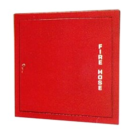 34 x 32 Inch Fire Rated Detention Cabinet for 100 Ft Fire Hose with Rack and Extinguisher- Steel Door and Frame, Recessed