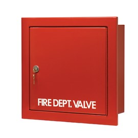 18 x 18 Inch Fire Rated Detention Cabinet for Fire Dept Valve- Steel Door and Frame, Recessed