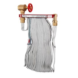 Complete Hose Rack Unit featuring 1.5 Inch Valve and 75 Foot Hose