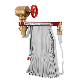 Complete Hose Rack Unit featuring 2.5 Inch Valve and 75 Foot Hose