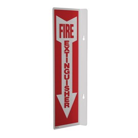 Cantilever Sign - FIRE EXTINGUISHER in White Down Arrow on Red Background