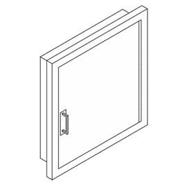 Gemini Acrylic Door for Hose or Valve Cabinet