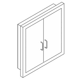 Double Door for Hose or Valve Cabinet