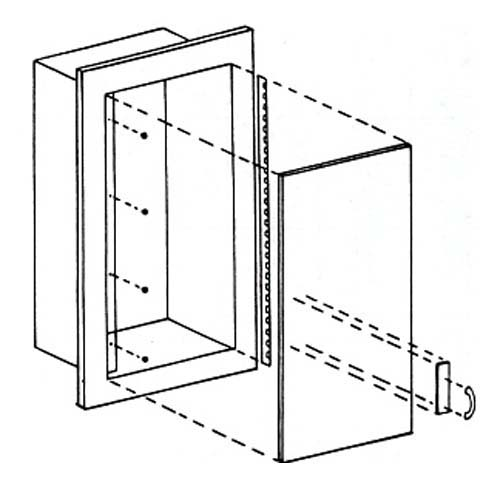 Medallion Fire Extinguisher Cabinet- Line Drawing